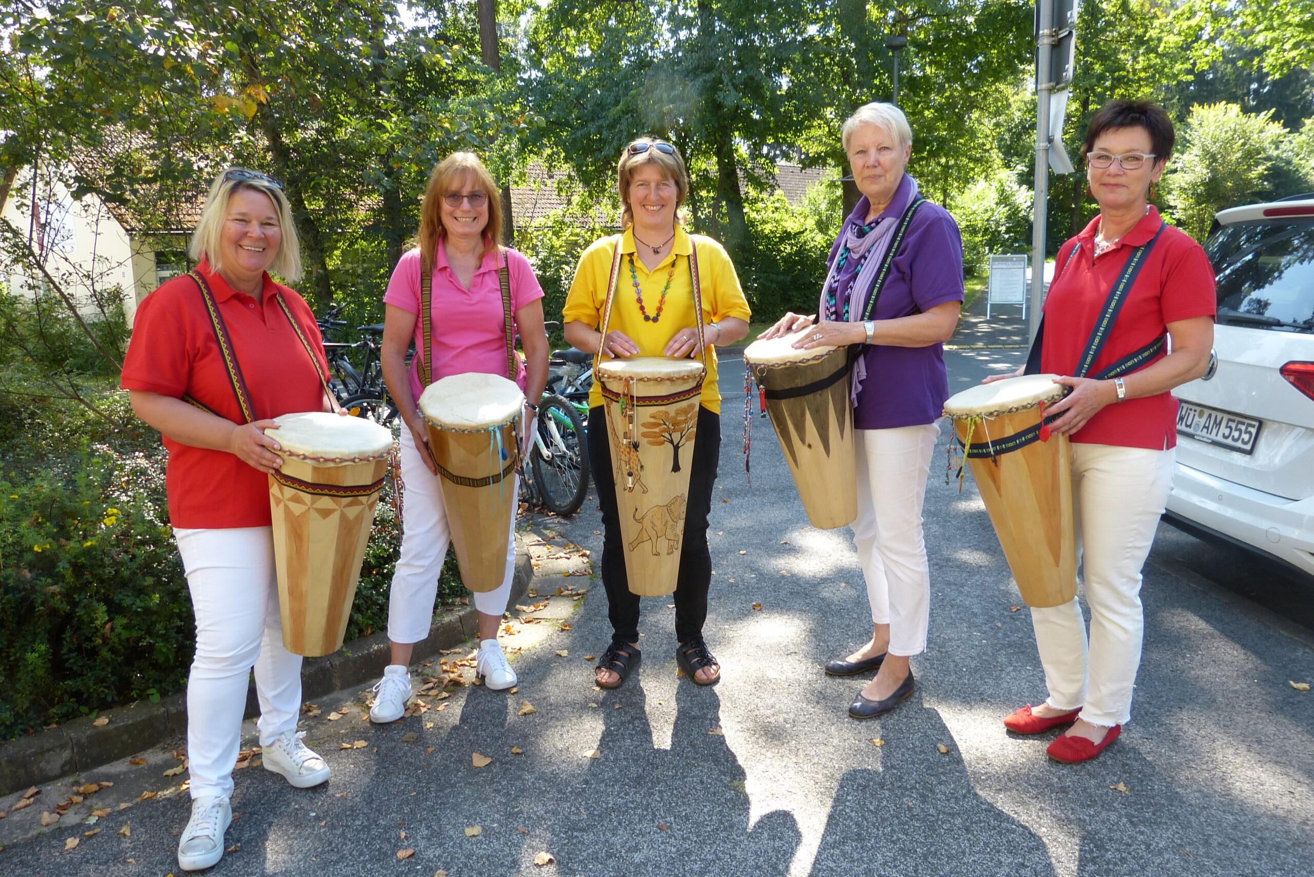 Die Trommlerinnen der Kirchengemeinde Eismannsberg